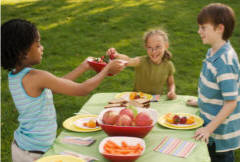 Healthy Ideas for Eating Out, Picnics and School Dinners with Children