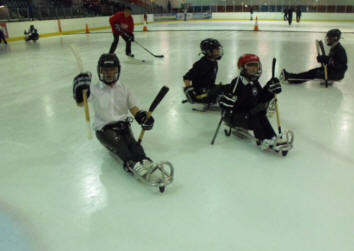 Silver Blades Ice Rink Widnes are offering Special needs groups Sledge Hockey as seen on the Paralympic Winter Sports